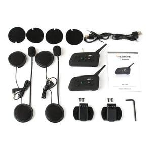 Image 5 - Vnetphone V6 マルチ BT インターホン 1200 メートル moto rcycle Bluetooth ヘルメットインターホン intercomunicador moto interfones 用 6 ライダー