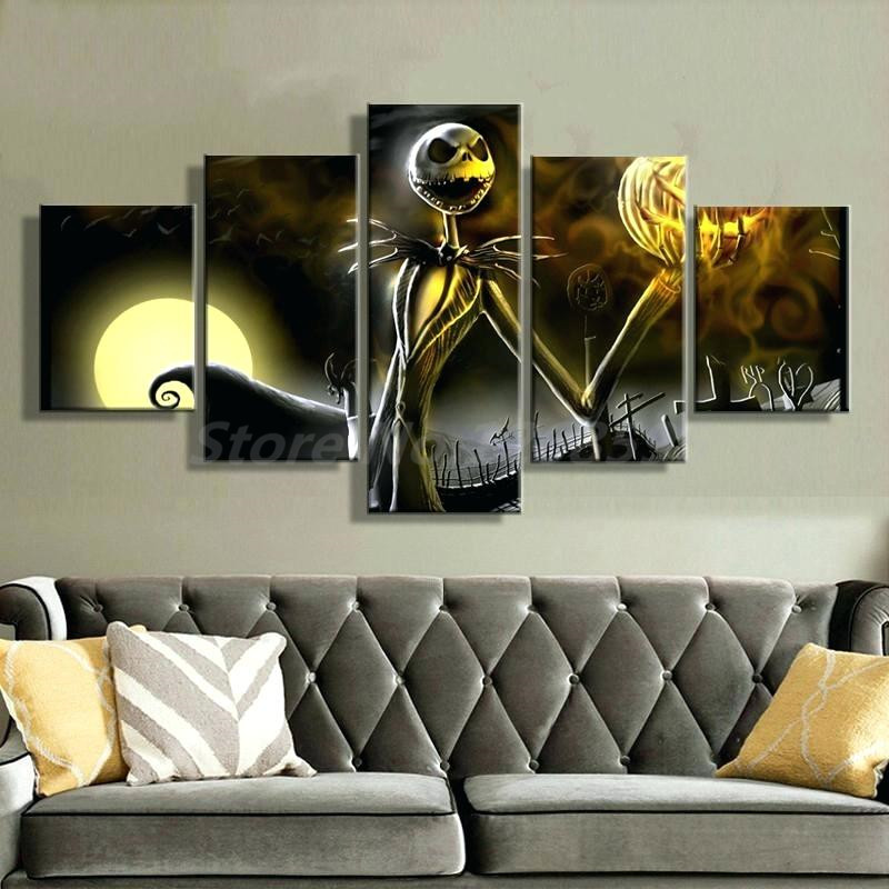 Halloween Nightmare Before Christmas 5 Pieces Canvas ...