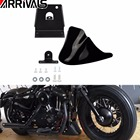 New Black Motorcycle Front Chin Spoiler Air Dam Fairing Cover Mudguard Air Dam Fair for For Harley Sportster XL883 XL1200