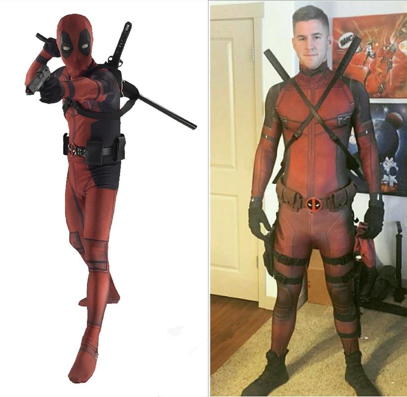 1:1 Deluxed Adult / Kids Deadpool Cosplay Costume Jumpsuit Spandex Zentai Suit Superhero