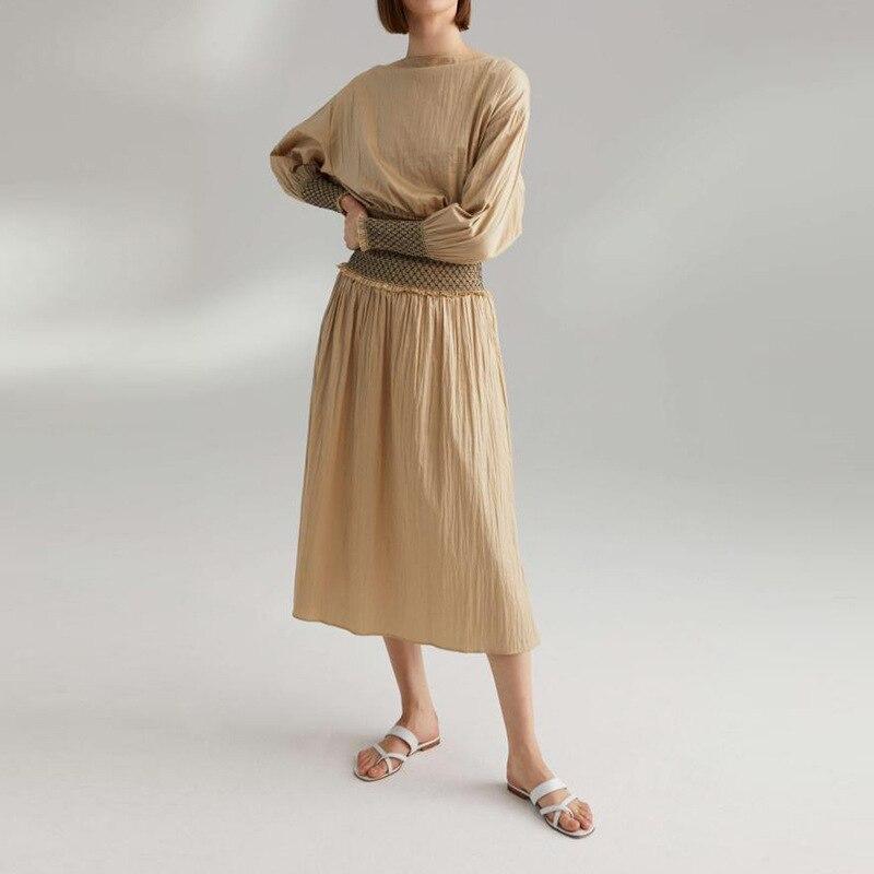 女性のスカートとトッププリーツウエストボディストップスカート  グループ上の レディース衣服 からの スカート の中 1