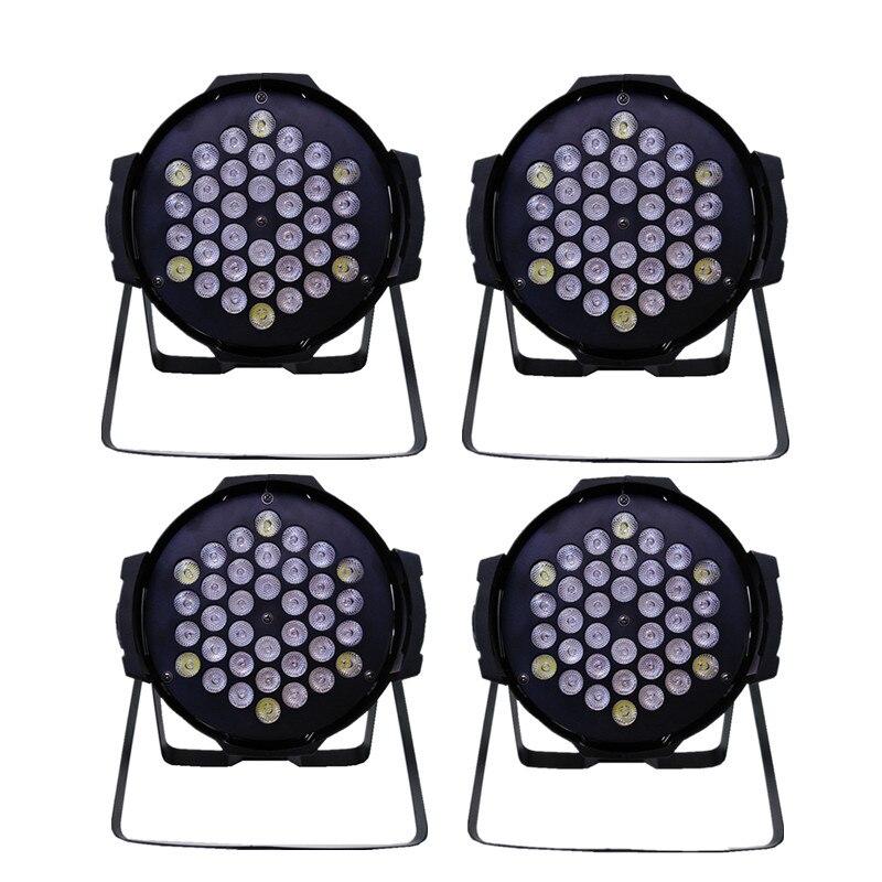 4 Pieces Par 36 led RGBW 3W Parcan DMX 8CH concert wash Stage Lighting Disco DJ wedding par light