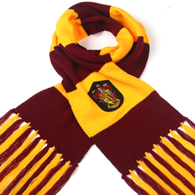 2017 New children college scarves Gryffindor slytherin scarf long thicker Holiday gifts Magic School scarf Ravenclaw SQ124(China)
