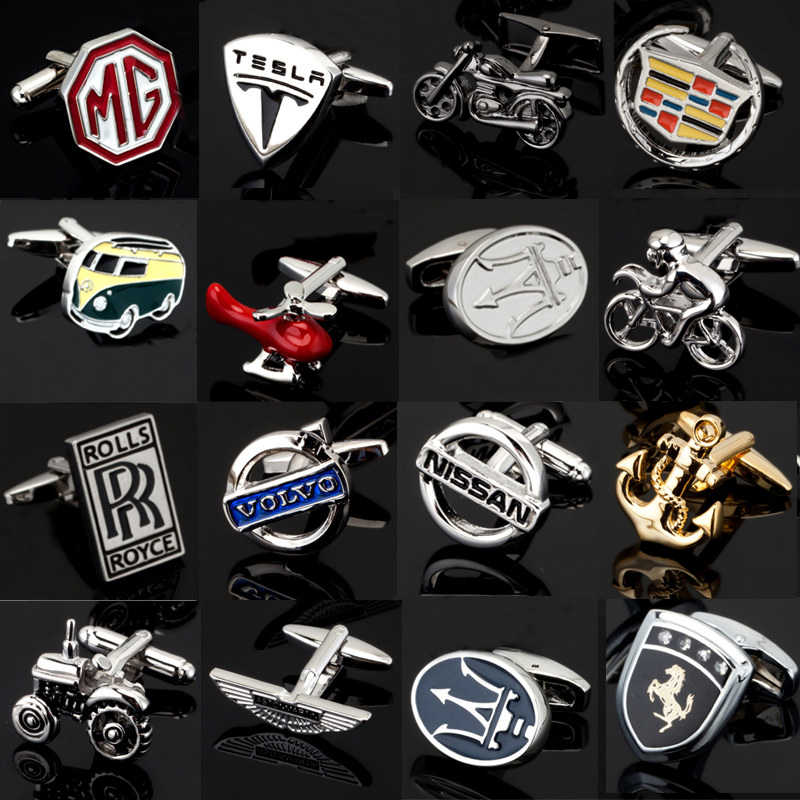 Free shipping, new 18 luxury men's shirt cufflinks Cadillac / Lexus / Audi Cufflinks French shirt jewelry brand logo cufflinks