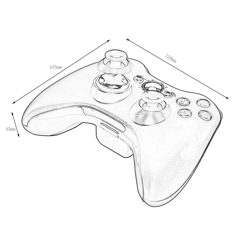 Kebidu 2 4g Wireless Remote Joystick Controller For Xbox 360