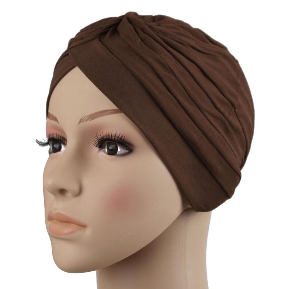 2017 fashion muslim scarf hijab shawl New Fashion Stretchy pure colour  Muslim Hats Hijab Underscarf Caps Turban Women's Bonnet