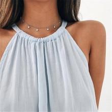 ADOLPH Star Choker Necklace Women Kolye Gold Silver Color Necklaces