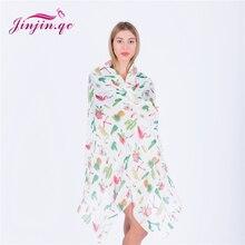 Jinjin.QC 2019 New Spring Fashion Scarf Flagmingo Printed Scarves and Wraps Cactus Pashmina Pineapple Bandana Echarpe Foulard