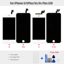 купить 1PCS LCD Display Touch Screen Panel for iphone 6 6 Plus 6S 6S Plus Display Screen Digitizer Assembly No Dead Pixel Free Shipping дешево