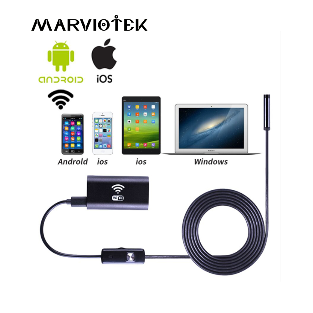 8mm Mini Waterproof WIFI Endoscope Camera Soft Cable Inspection Camera USB Endoscope Borescope IOS Endoscope Camera For Iphone