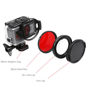 Image 2 - Underwater Lens Filter Red Filter 16X Close up lens 16 Times Macro Lens for GoPro Hero 7 6 5 Action Camera Diving Accessories