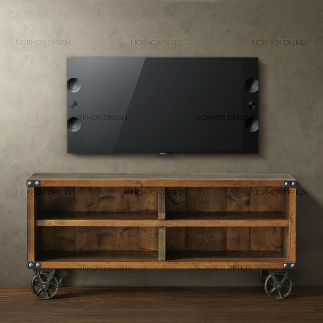 Genial Nordic Expression / Houston1943 Series / Cowboy City / Wood Furniture / Recycled  Wood TV Cabinet