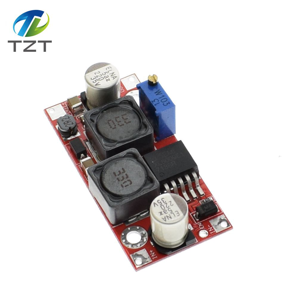 1pcs Tzt Dc Auto Boost Buck Adjustable Step Down Converter Xl6009 Circuits Apmilifier 5v To 12v Lm2577 Up Voltage Module Solar Blue In Integrated From Electronic Components Supplies