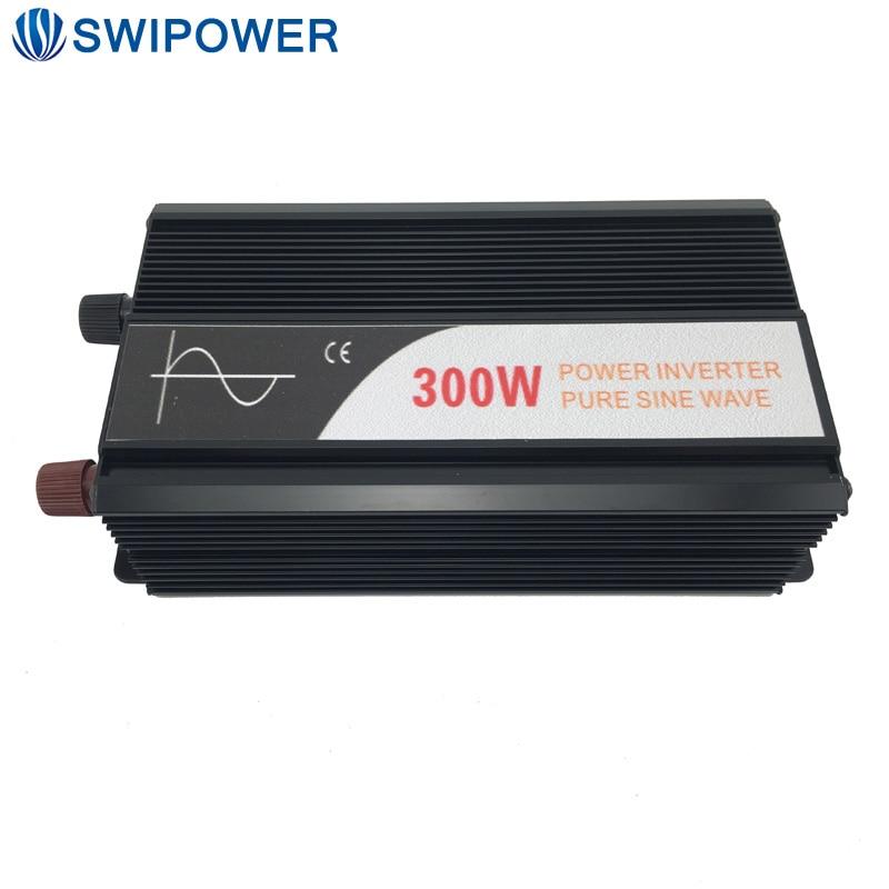 300 W voiture onduleur onde sinusoïdale pure 12 V 24 V 48 V DC à AC 110 V 220 V