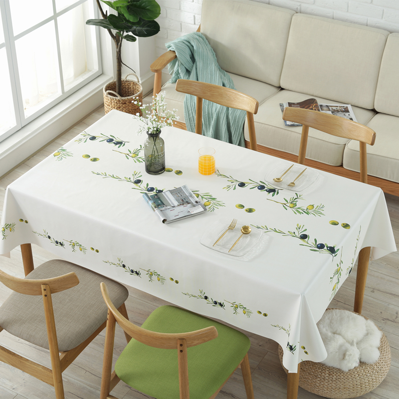 PVC Plastic Table Cloth Rectangular Wedding Party Hotel Tablecloth Waterproof Oilproof Table Cover Fruit Printed Tablecloths
