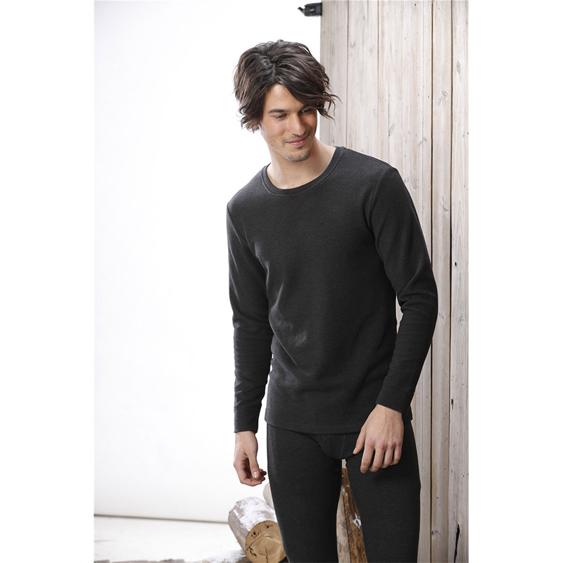 Long Johns Mens Thermal Underwear Sets With Pant Male Cotton Winter Warm Round Neck Soft Household Sleepwear Pajama Man