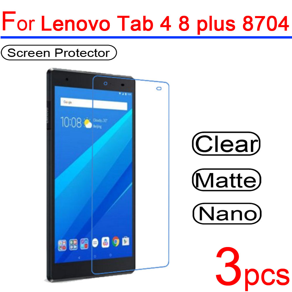 Aspiring 3pcs Ultra Clear Pet Soft Lcd Screen Protector Guard Cover For Lenovo Tab 4 8 Plus Tb-8504 Tb-8704f/n/x 8.0 Protective Film Mobile Phone Accessories Cellphones & Telecommunications