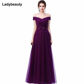 Ladybeauty 2019 Robe De Soiree Red wine Red Slit Short Evening Dresses women luxury Formal Gown Long Prom Dresses robe rouge
