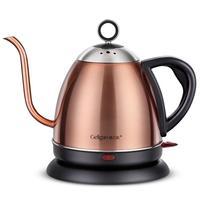 220V 1L Gooseneck Kettle Electric Kettle Stainless Steel Drip Coffee Tea Auto Off Electric Teapot EU/AU/UK/US Plug