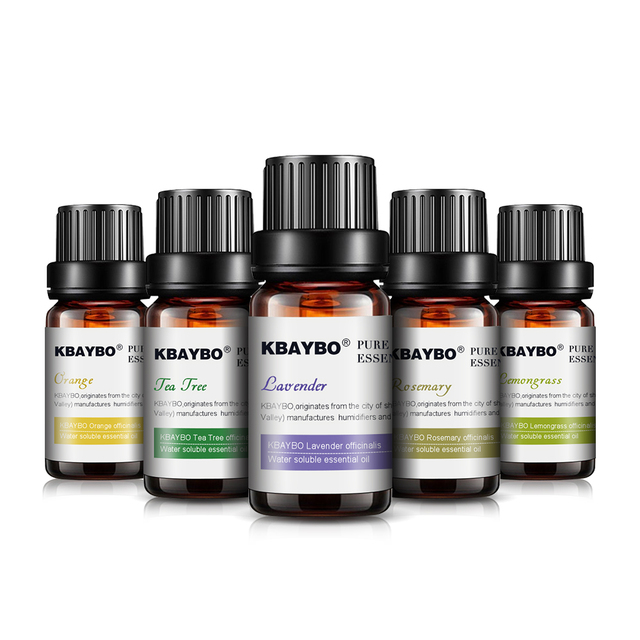 Essential Oils for Diffuser, Aromatherapy Oil Humidifier 6 Kinds Fragrance of Lavender, Tea Tree, Rosemary, Lemongrass, Orange 1