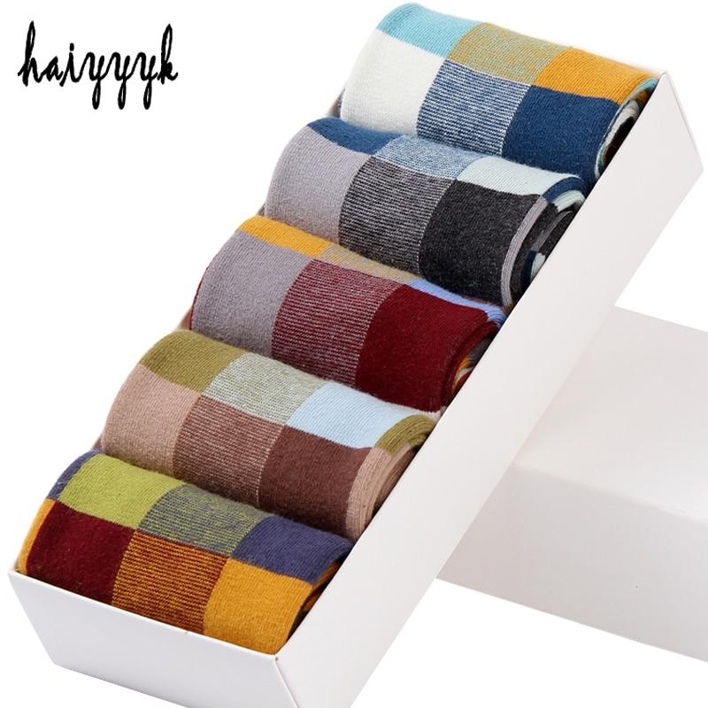 5 Pair/Lot Cotton Men's Socks