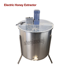 1 pc ze stali nierdzewnej 6 rama miodarka elektryczna pogrubienie miód maszyna do ekstrakcji miodu gniazdo separator narzędzie pszczelarskie w Roboty kuchenne od AGD na