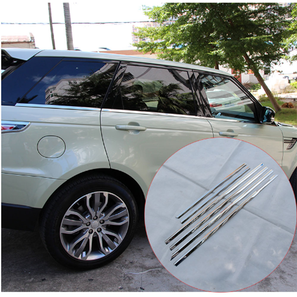 2014 Land Rover Range Rover Sport: 6pcs Stainless Steel Car Bottom Window Trim Strips For