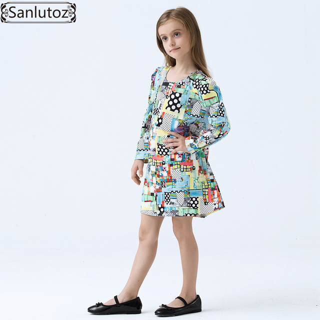 607be2482 Girls Dress Winter Children Dress Brand Kids Clothes Cartoon Girls ...