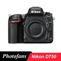 Цифровая камера Nikon D750 DSLR с полной рамкой 24,3mp FX формат Full HD 1080 p видео 3,2 Наклонный ЖК дисплей Wi Fi (Новый)