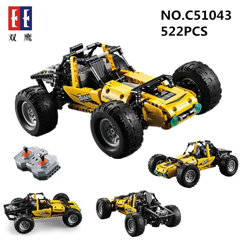 Marche di Costruzione di Modello Kit RC Veicolo Gara Buggy Auto Telecomando Legoings Technic Blocchi Mattoni Giocattoli Educativi Per I Bambini