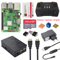 Raspberry Pi 3 Model B+ (Plus) + Case + 2.4GHZ Wireless Keyboard + 2.5A Power Charger + USB Switch Charging Cable + Heat Sinks