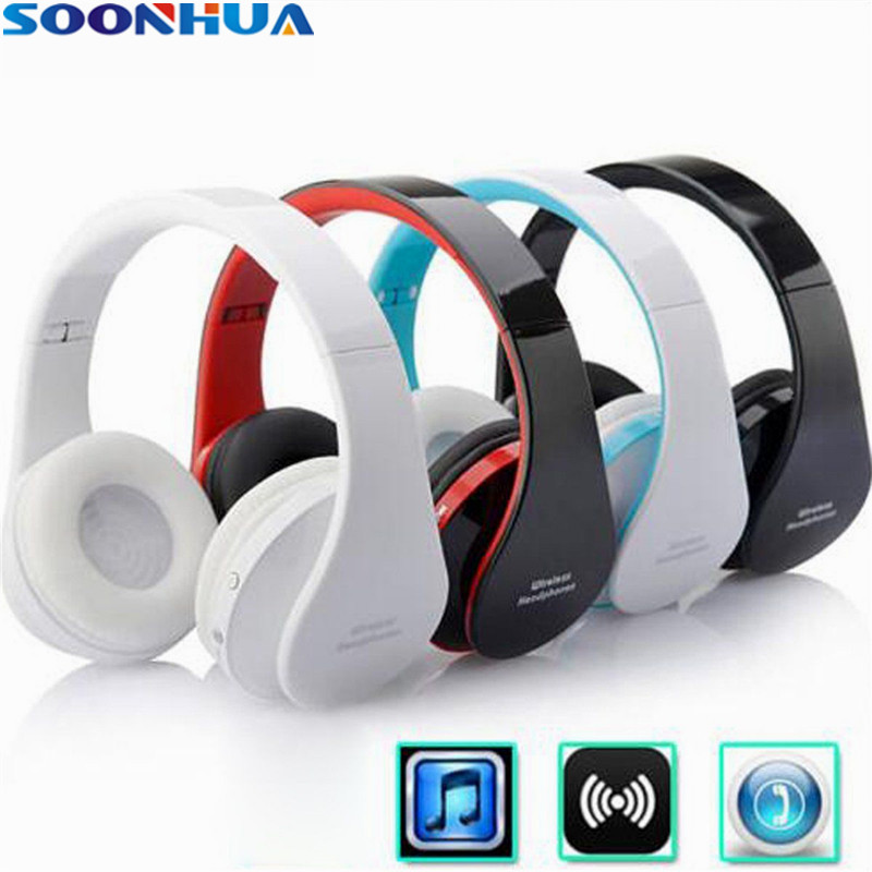 SOONHUA Wireless Earphone Bluetooth 4.1 Stereo Headset USB Charging  Original Foldable Sport Stereo Headphone With Microphone original stereo car bluetooth headset wireless earset bluetooth headfree car kit earphone headphone with base charging dock