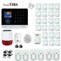 SmartYIBA Беспроводная SIM GSM домашняя RFID защита от взлома ЖК Сенсорная клавиатура WIFI GSM сигнализация система Датчик комплект