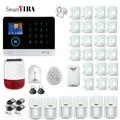 SmartYIBA sans fil SIM GSM maison RFID cambrioleur sécurité LCD clavier tactile WIFI GSM système d'alarme capteur kit kit kits kit gsmkit wifi -