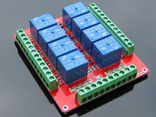 8 Channel Relay Shield Module Extended Edition Two-way Terminal Double PCB 5V 12V 24V Optional UNO R3 Raspberry pi pCduino