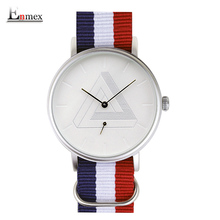 2016 Enmex creative design montre-bracelet Nordique conception Séparée seconde main 3D échelle simple Toile de mode mens montres à quartz