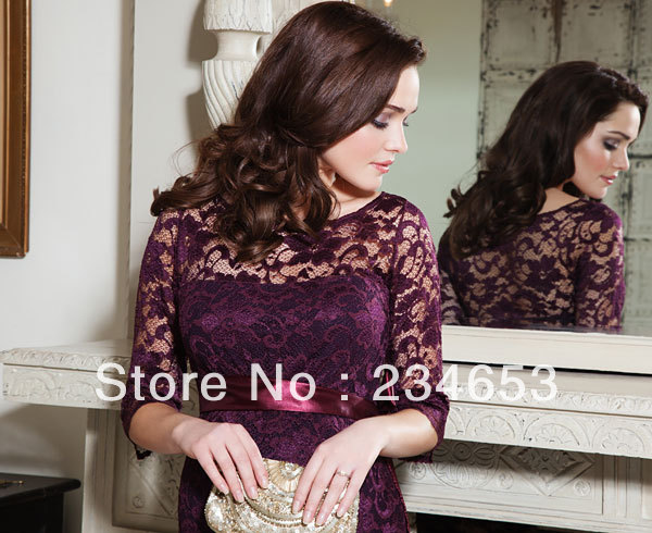 2014 Dark Red Lace High Neck Evening Special Occasion Maternity Dresses With Mid Sleeveknee Length Formal Pageant Gown Maternity Wedding Dresses Under 100 Maternity Dresses Skirtsdress Order Aliexpress
