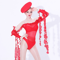 Jazz Dance Costume Stage Bodysuit Singers Nightclub Jumpsuit DJ DS Dancer Outfit Women Pole Dance Performance Clothing DL3069