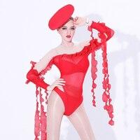 Jazz Dance Costume Stage Bodysuit Singers Nightclub Jumpsuit DJ DS Dancer Outfit Women Pole Dance Performance Clothing DL3069