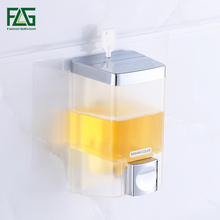 Hot Sale 350ml Manually Wall Mounted Bathroom Shower Body Lotion Shampoo Cream Liquid Soap Dispenser
