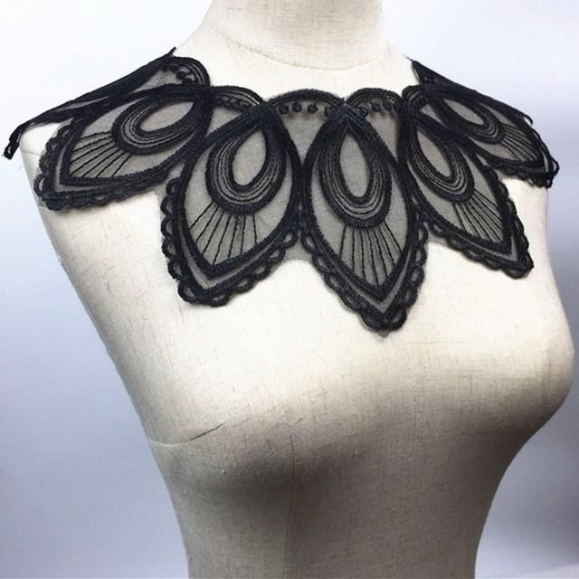 Fabric Flower Venise Lace Sewing Applique Lace Collar Neckline Collar Applique DIY Craft Neckline Sewing Accessories BW164