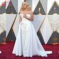 88ª sesión Oscar Celebrity Red Carpet vestidos de Noche Largo Vestidos de Novia Satén Traje Pantalón Blanco formal Vestidos de La Celebridad de Encargo