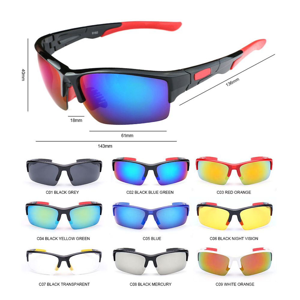 Купить с кэшбэком AIELBRO Cycling Eyewear Glasses Men Outdoor Sport Mountain Bike MTB Bicycle Motorcycle Sunglasses Eyewear Oculos Ciclismo