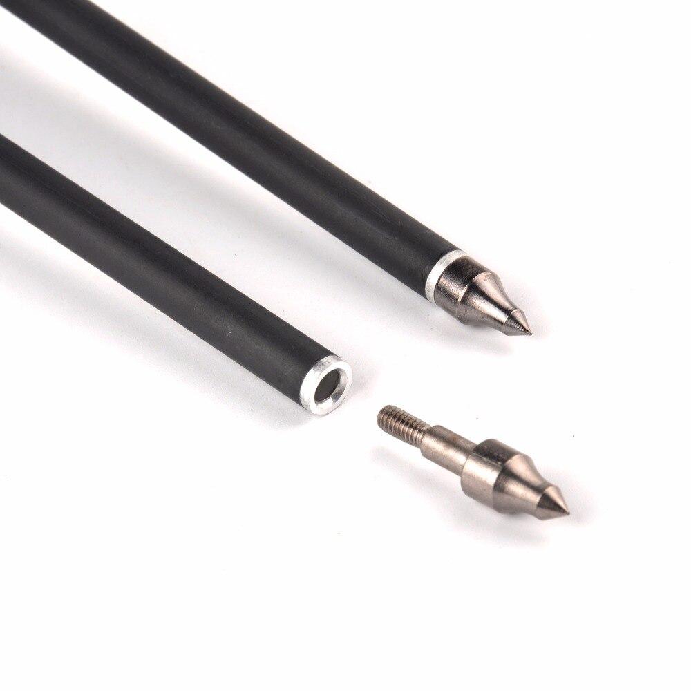 12/24/36 pcs. Flecha de carbono Flecha 17 pulgadas reemplazable 125 - Caza - foto 5