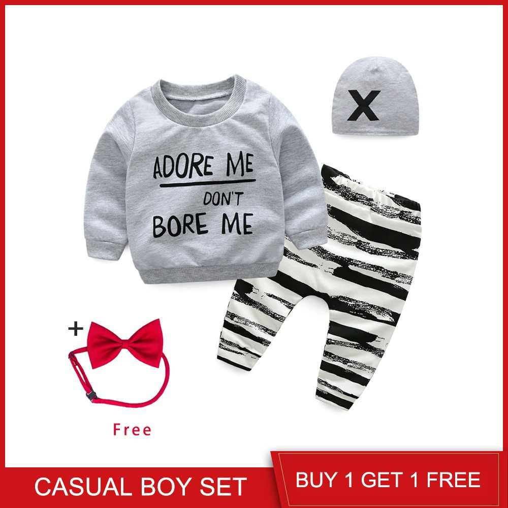 c62cc887b Top and Top Unisex Baby Clothing Set Newborn Long Sleeve Letters  Sweatshirt+Casual Pants+