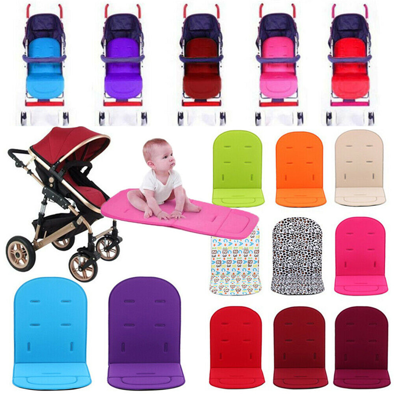 Baby Stroller Liner Pads Cushion TJW Universal Pushchair Car Seat Comfortable Memory Foam Padding Mat Red