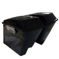 Vivid Black For Harley Touring FL 93 13 Road King Extended Stretched Saddlebag Key