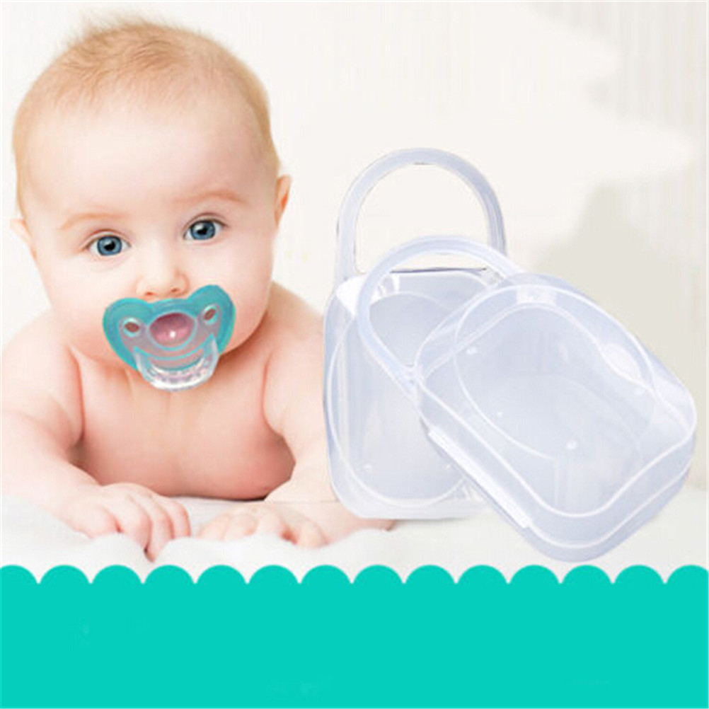 Portable Baby Infant Teether Case Holder Pacifier Chain Storage Box Clear Travel