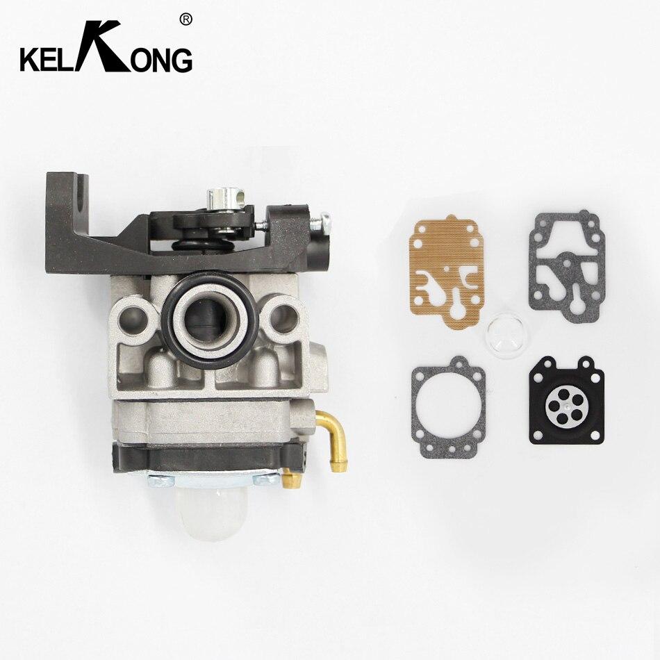 KELKONG Carburetor For Honda GX35 GrassTrimmer Engine 16100-Z0Z-034 Lawn Mower Brush Cutter Spare Parts With Repair Kits 10 set carburetor repair kits with primer bulb needle for brush cutter cg260 cg330 cg430 cg520 gx35 40 5 43cc 52cc