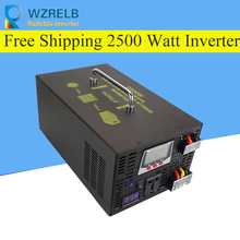 цена на Reliable Pure Sine Wave Inverter UPS and charging function 2500W outdoor home frequency inverter with charger